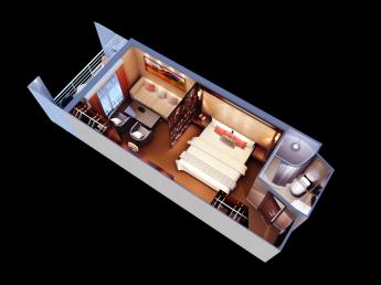 Premium Suite Raumübersicht Aranui 5 Marquesas Inseln Französisch Polynesien Tahiti