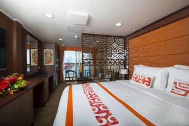 Kabine Premium Suite Aranui 5 Marquesas Inseln Französisch Polynesien Tahiti