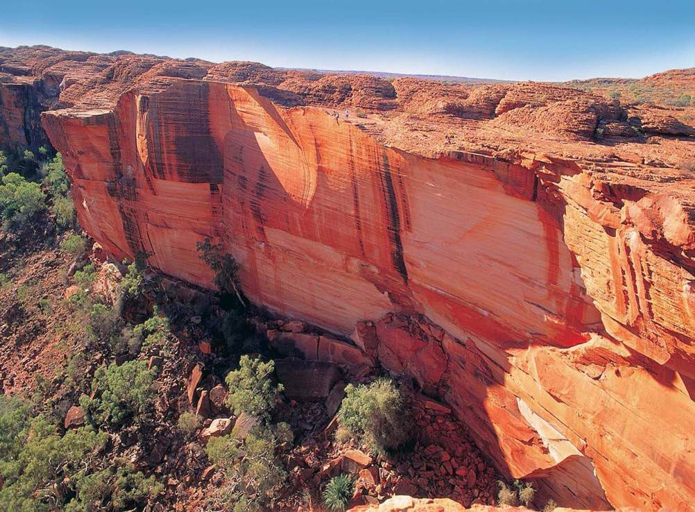 Steilwand im Kings Canyon Northern Territory Australien