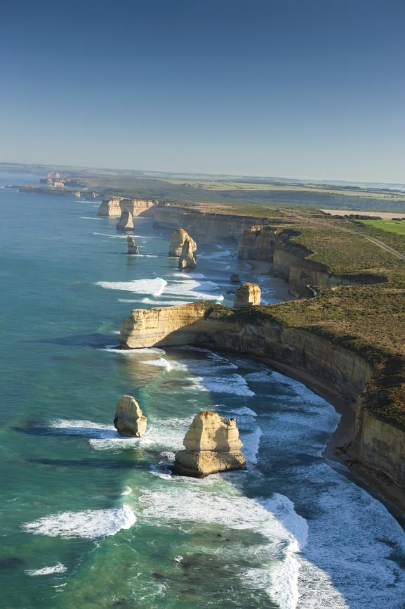 Luftaufnahme Twelve Apostles Great Ocean Road Victoria Australien VIC