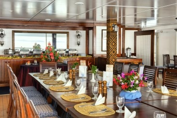 Speiseraum MV Fiji Princess Blue Lagoon Cruises Fidschi