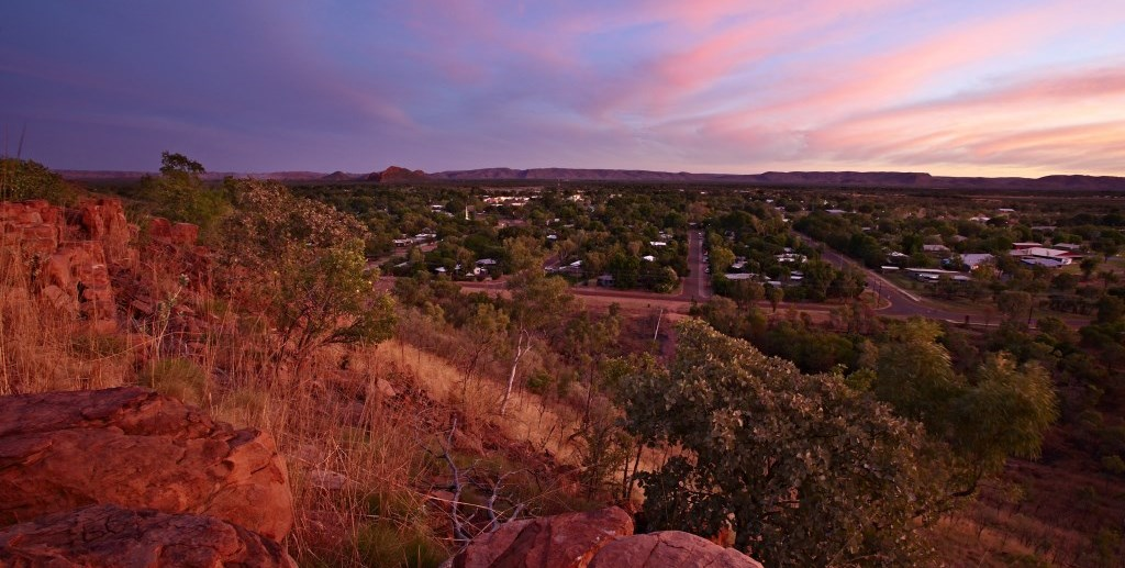 Blick auf Kununurra Kimberleys Westaustralien
