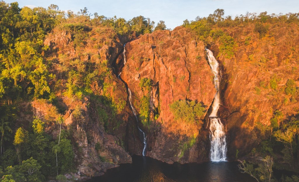 Luftaufnahme Wangi Falls Litchfield Nationalpark Northern Territory