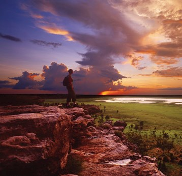 Sonnenuntergang am Ubirr Rock Kakadu Nationalpark Northern Territory Australien NT