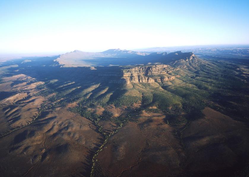 Luftaufnahme Wilpena Pound Flinders Ranges Südaustralien