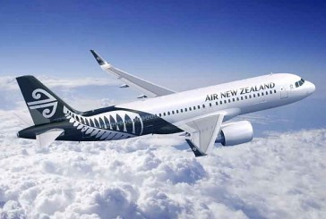Air New Zealand Flugzeug über Wolken