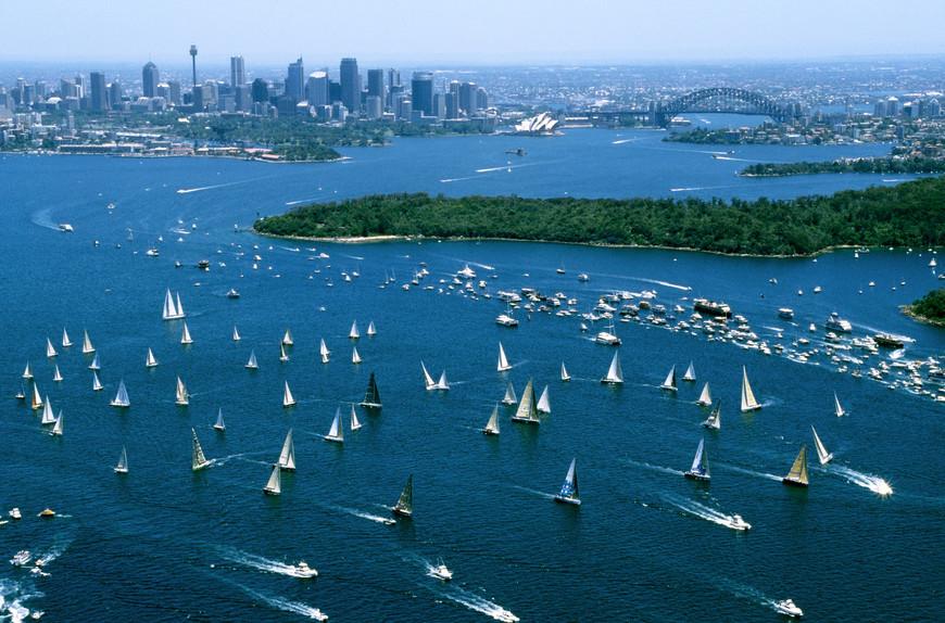 Blick auf Sydney und Hafen New South Wales Australien NSW