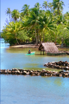 Kajaktour auf Huahine Huahine Französisch Polynesien Tahiti